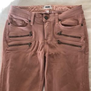 Pink Paige jeans, only worn once